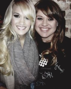 Kelly Clarkson with Carrie Underwood