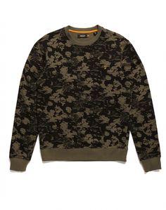 Farah Vintage Sweatshirt with Abstract Print Flat
