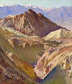 Gunnar Widforss - Golden Valley, Death Valley