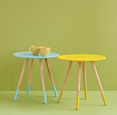Cute dip dyed feet on a simple yet stylish side table with Blossom