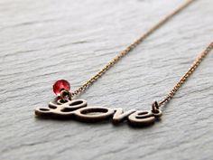 Kette - Red Love von Perlenfontäne auf DaWanda.com