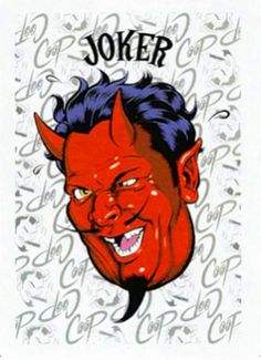 Coop Playing Cards Joker. 2006. 53 Artist Chris Coops drawings on every card. DarkHorseComics.com