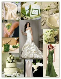 Wedding Ideas By Color Green