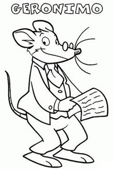 1000 images about colorir on pinterest colouring pages for Geronimo stilton coloring pages free