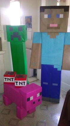 Minecraft Party · A Candy Apple · Cooking, Food Decoration, and Decorating on Cut Out + Keep Minecraft Birthday Party, 6th Birthday Parties, Birthday Fun, Birthday Ideas, Mine Craft Birthday, Mine Craft Party, 10th Birthday, Minecraft Party Decorations, Minecraft Party Ideas