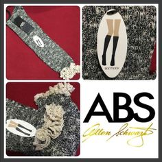 ABS Tall Crochet Boot Socks Super cute and soft ! Features crochet on the top. Black combo/ Ivory color. ABS Allen Schwartz Accessories Hosiery & Socks