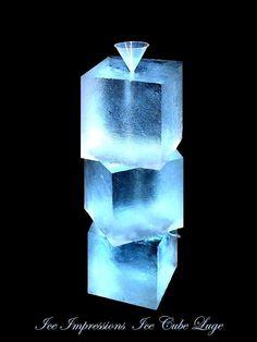 Ice Cube Luge, www.ice-impressions.com, ice impressions ice sculptures, ice sculptures, ice carving, ice luge, ice bar, ice bars, ice bar Michigan, ice impressions ice sculptures, custom ice sculptures.