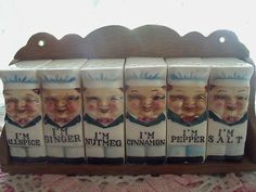 Vintage little Chef shakers spice rack!