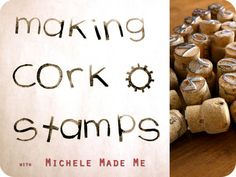 Cork letter stamps #tutorial #crafts