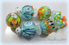 "ELA Lampwork Beads - ""Spring is coming""  #Lampwork"