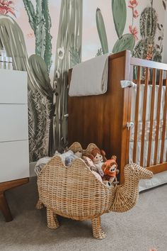 Today we are sharing every detial of our twin girls cactus themed desert oasis twin nursery! Come join us and step into a little desert oasis! Nursery Twins, Nursery Themes, Nursery Room, Nursery Decor, Nursery Ideas, Baby Room, Room Ideas, Western Nursery, Green Wall Clocks