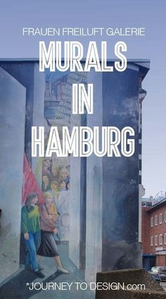 Hamburg's Murals at Frauen Freiluft Galerie Great Walks, Blog Pictures, Amazing Street Art, Interesting Buildings, Black And White Painting, First Story, Working Woman, Artist At Work, Journey