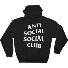 Anti Social Social Club Hoodie, (230 CNY) ❤ liked on Polyvore featuring tops, hoodies, hoodie top, cotton hoodie, hooded pullover, cotton hoodies and cotton hooded sweatshirt