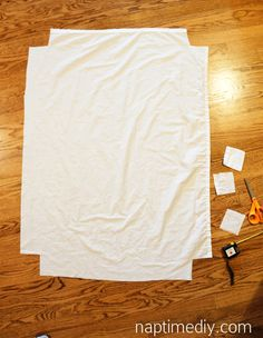 Make four Pack 'N Play sheets from one full size flat sheet