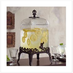 Planning on doing vintage drinks stations at all our summer events - love this vintage cocktail dispenser!