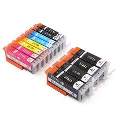 Freshworld Replacement for PGI-250XL CLI-251XL Ink Cartridge (2Set+2BK), Compatible for Canon PIXMA MX922 IP7220 IP8720 IX6820, Canon PIXMA MG5420 5422 5520 5522 5620 6320 6420 6620 7120 7520 Printer