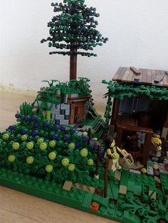 Vineyard4   by jurisvk Lego Boards, Lego Christmas, Lego 4, Lego Ideas, Trees, Exterior, Landscape, Creative, Fun