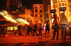 Police and protesters clashed throughout Tuesday, in Istanbul's Taksim Square....
