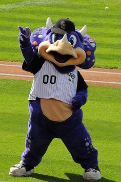 Colorado Rockies Mascot - Dinger!  Created by Street Characters Inc.