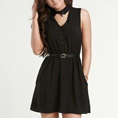Kendall And Kyle Black Dress With Collar