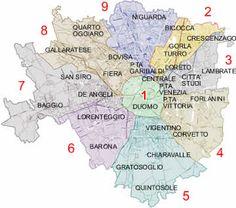 Quartieri di Milano #mappe