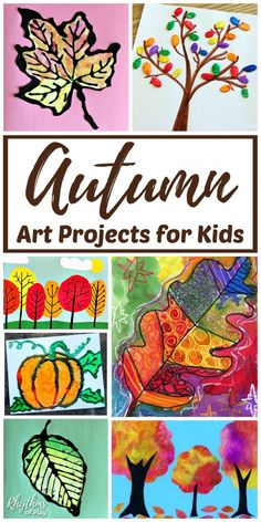 The Best Fall Art for Kids! This helpful round-up will leave you feeling creative, artistic and excited about autumn colors! You'll have a chance to use fall leaves, autumn trees, pumpkins, scarecrows, and owls. These art pieces are perfect for at-home projects or in the classroom. | #RhythmsOfPlay #FallArt #AutumnArt #FallTheme #AutumnTheme #KidsArt #ArtProjectsForKids #CraftForKids #KidsCraft