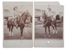 Two Rare Cabinet Card Portraits of Buffalo Bill Cody