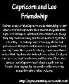 Leo and capricorn friendship compatibility