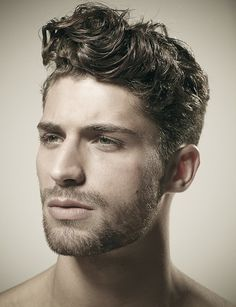 Very Cropped Beard, and Curly but Groomed Hair, Thom Morell.