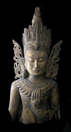 Shan Gilt Wooden Sculpture of the Buddha