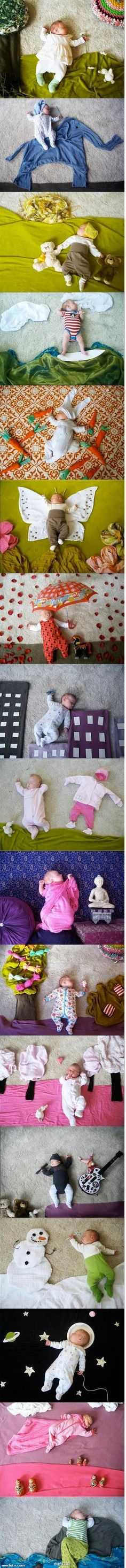 this is both AWESOME and concerning... how long has this baby been on the floor for?!