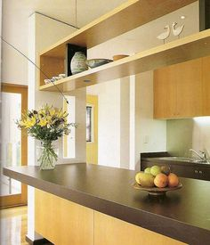 DIY Kitchen Cabinet Ideas - I like the open shelf on top