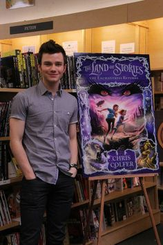 Chris Colfer at book signing for TLOS2: The Enchantress Returns