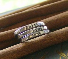 custom fine silver stacking rings
