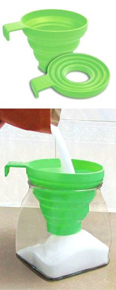 Collapsible funnel // clever and handy kitchen tool! #product_design