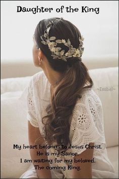 My heart belongs to Jesus Christ. He is my Savior. I am waiting for my beloved. The coming King.