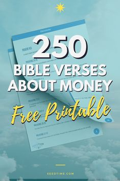 FREE Printable! 250 Bible Verses about Money, Debt, saving, investing, budgeting, giving, God's provision, and more! #bibleverses #biblestudy #seedtime Financial Tips, Financial Planning, Christian Living, Christian Life, Proverbs 20, Bible Study Plans, Household Expenses, Sunday School Lessons, Money Management