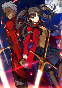Safebooru is a anime and manga picture search engine, images are being updated hourly. Manga Girl, Manga Anime, Anime Art, Gundam Build Fighters Try, Fate Archer, Tohsaka Rin, Fate Stay Night Anime, Different Art Styles, Arte Popular
