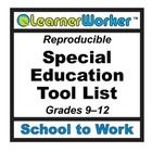 Free!  School to Work guidance tools for high school transition