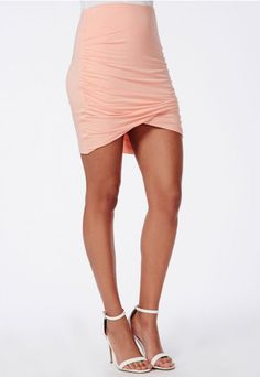Faux Leather Mini Skirt Nude - Faux - Leather - Skirts ...