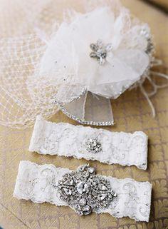 jewel-encrusted garters // photo by Caroline Tran // http://ruffledblog.com/elegant-san-diego-wedding