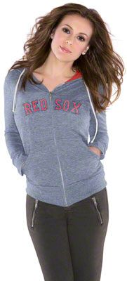 Boston Red Sox Women's Tried and True Tri-Blend Full-Zip Hoodie - Touch by Alyssa Milano