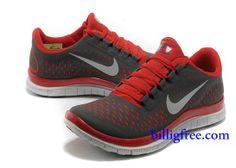 wholesale dealer 064fd 13b75 Verkaufen billig Schuhe Damen Nike Free 3.0 V4 (Farbe Vamp-rot,schwarz