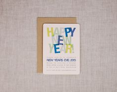 New Years Eve Party Invitation  Happy New by LilbobArtAndDesign, $26.00
