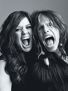 love these two & love this photo! - Kelly Clarkson and Steven Tyler