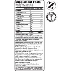 Pure Energy Chews Supplement Facts
