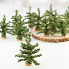 Mini Artificial Pine Trees - Christmas Miniatures - Christmas and Winter - Holiday Crafts Tabletop Christmas Tree, Small Christmas Trees, Woodland Christmas, Miniature Christmas, Handmade Christmas, Christmas Decorations, Christmas Ideas, Xmas, Christmas Ornaments