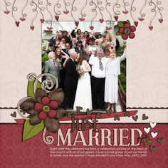 penelopejane scrapbooking wedding layouts
