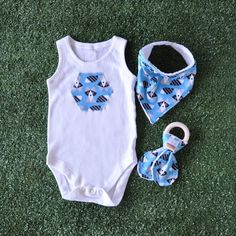Racoon Giftset Teether Dribble Bib Bandana Bib Onesie Romper Baby Shower Gift Handmade Baby Infant Newborn
