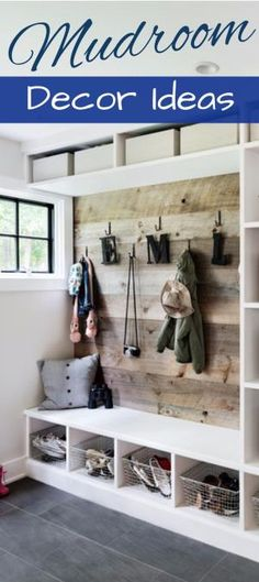 DIY Mudroom Decorating and Design ideas - great ideas for mud rooms and foyer entryway too by erika
